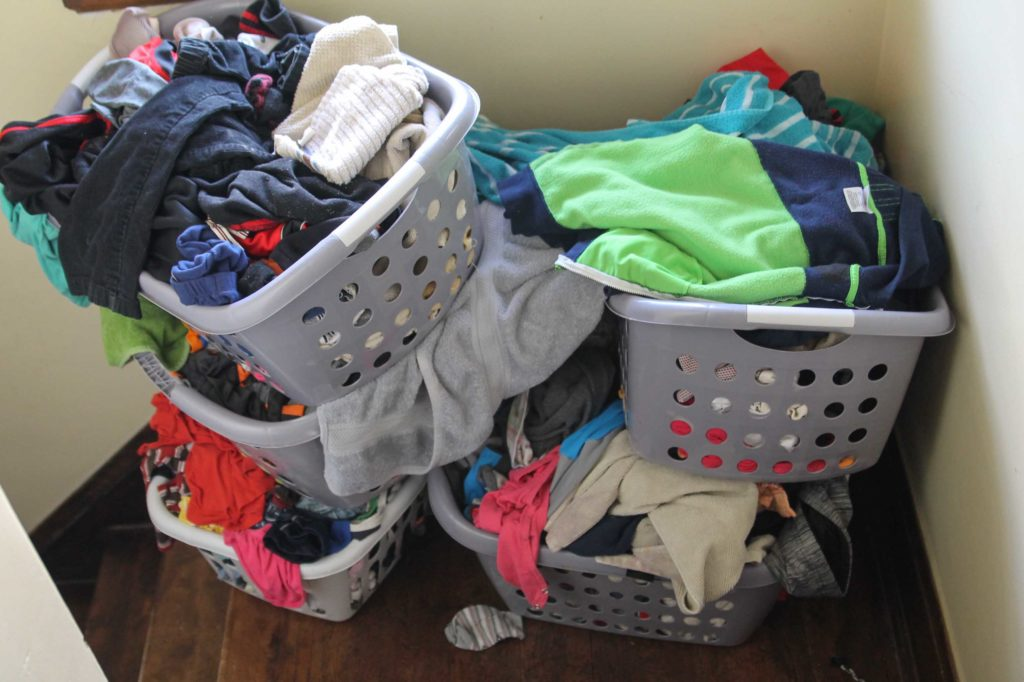 the laundry pile everyone has seen far too often on laundry day
