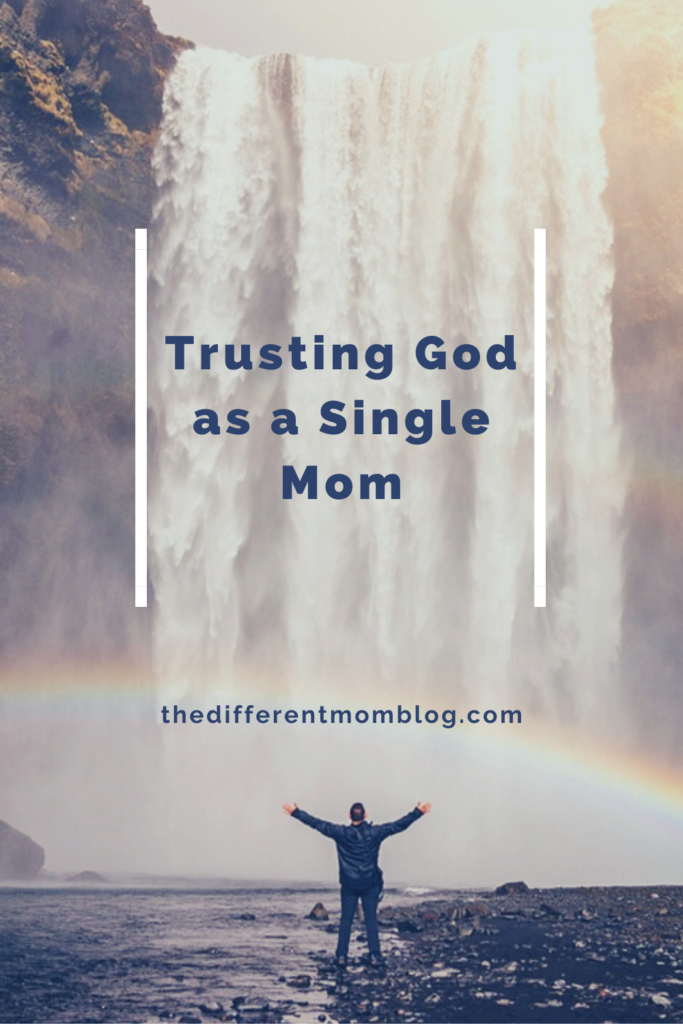 The Different Mom as a single mom offers up her go to scriptures for single moms to learn to trust in God